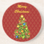 Green Christmas Tree Coasters