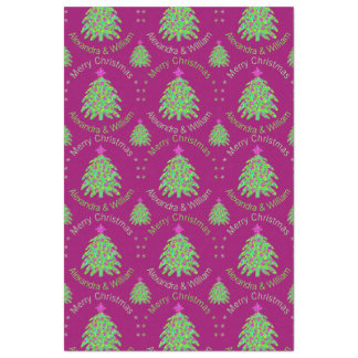 "Green Christmas Tree Colorful Holiday Fun 20"" X 30"" Tissue Paper"