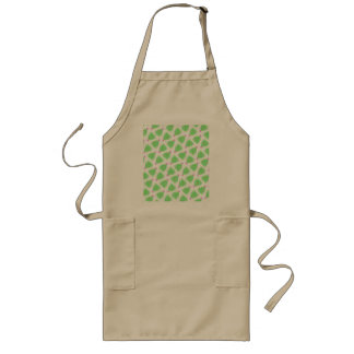 Green Christmas Tree Colorful Holiday Pattern Long Apron