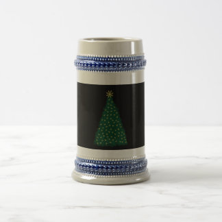 Green Christmas Tree, Gold Running Horses, Black Beer Stein