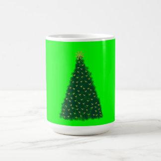 Green Christmas Tree, Gold Running Horses, Lime Coffee Mug