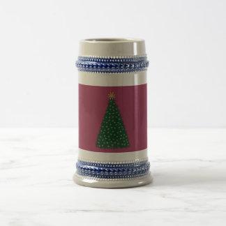 Green Christmas Tree, Gold Running Horses, Sangria Beer Stein