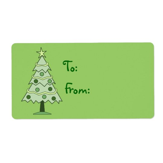 green christmas tree holiday gift tag labels zazzle com