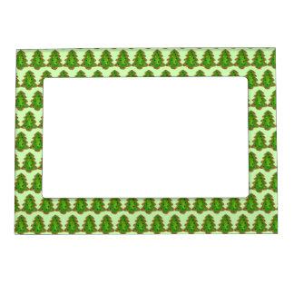Green Christmas Tree Holiday Sugar Cookie Sprinkle Magnetic Frame