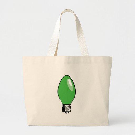 Green Christmas Tree Light Bag