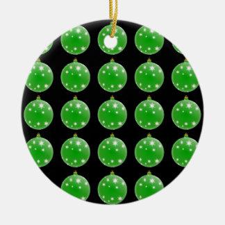 Green Christmas Tree Ornaments Pattern