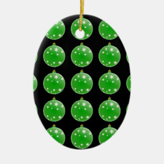 Green Christmas Tree Ornaments Pattern
