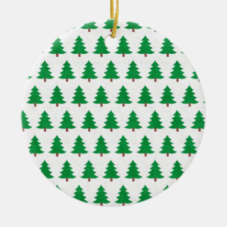 Green Christmas tree pattern, Two sided printing Ceramic Ornament