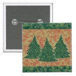 Green Christmas Tree Pin