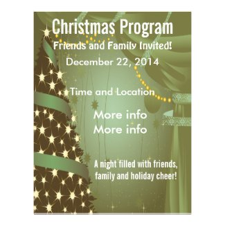 Green Christmas Tree Program Flyer