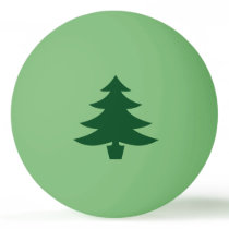Green Christmas Tree Shape on Green Ping-Pong Ball