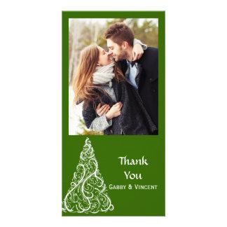 Green Christmas Tree Thank You Card