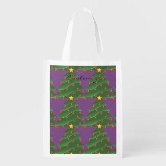 Green Christmas Tree Thunder_Cove Reusable Grocery Bag