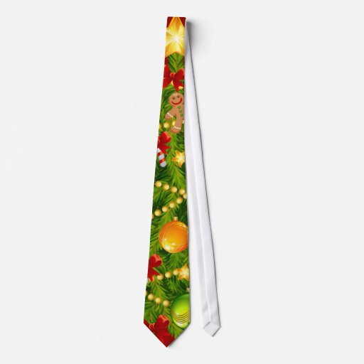 Green Christmas Tree Tie