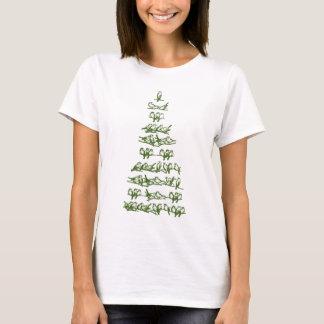 Green Christmas Tree with Birds Shirt