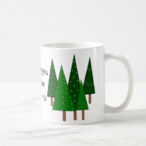 Green Christmas Trees Coffee Mug
