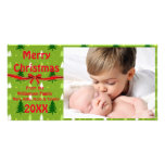 Green Christmas Trees Photo Card