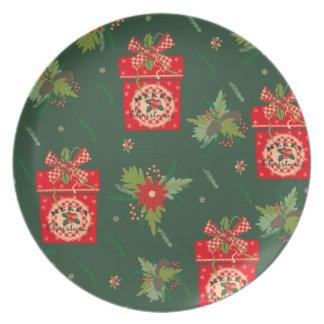 Green christmassy Plates
