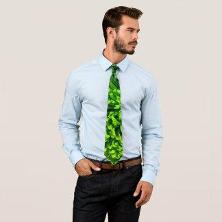 Green Chrysanthemum Neck Tie