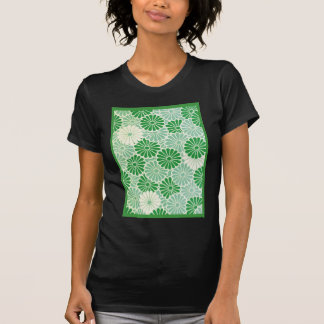 Green Chrysanthemum Tee Shirt