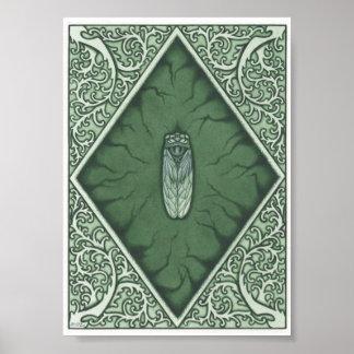 Green Cicada Print