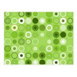 Green Circle Decoration Post Cards