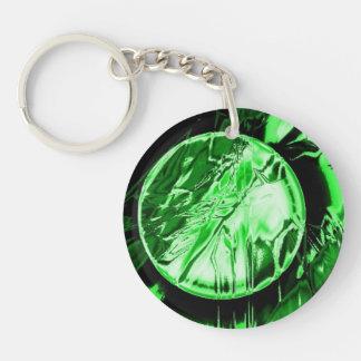 Green Circle Acrylic Key Chain
