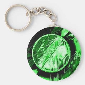 Green Circle Key Chains