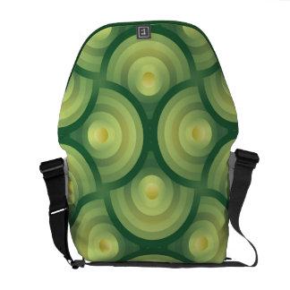 Green circle organic pattern commuter bags