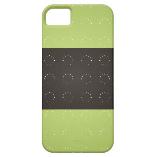 Green circle pattern 3 tripes Iphone 5s cases iPhone 5 Case