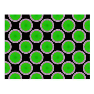 green circle pattern postcard