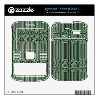 Green Circle Pattern Kyocera Torino Decal