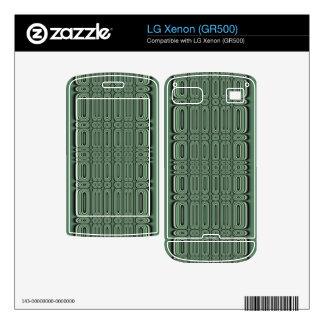 green circle pattern LG xenon decals