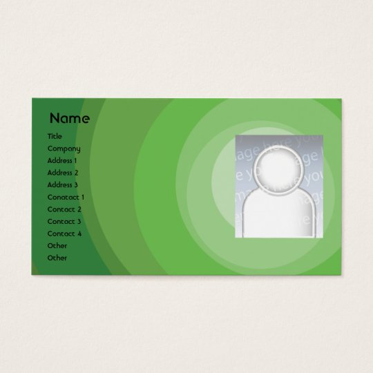 Green Circle Shades - Business Business Card