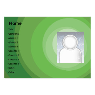 Green Circle Shades - Chubby Large Business Card