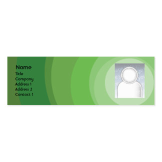 Green Circle Shades - Skinny Double-Sided Mini Business Cards (Pack Of 20)