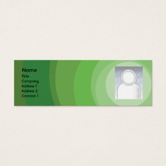 Green Circle Shades - Skinny Mini Business Card