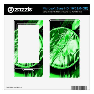 Green Circle Skins For The Zune HD