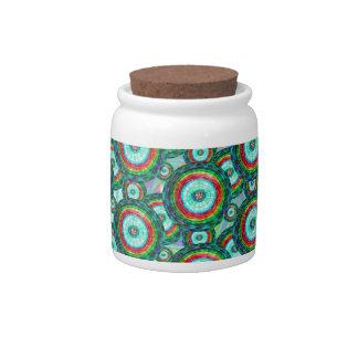 Green circles #3 candy jars