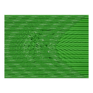 green circles and lines poster