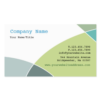Green Circles Business Card