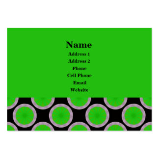 green circles business card template