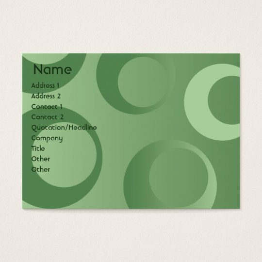 Green Circles - Chubby Business Card