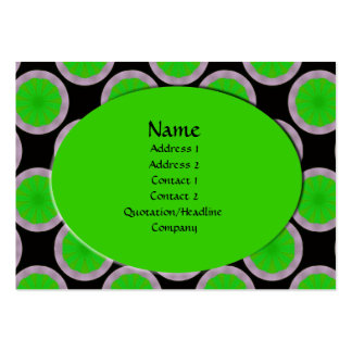green circles large business cards (Pack of 100)