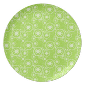 Green Circles Melamine Plate