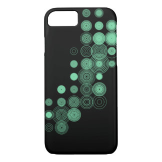 Green Circles on Black iPhone 7 Barely There Case