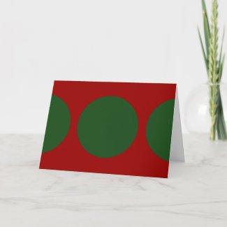 Green Circles on Red card