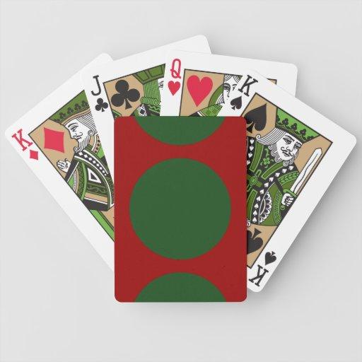 Green Circles on Red Card Decks