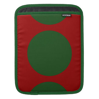 Green Circles on Red iPad Sleeves