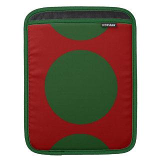 Green Circles on Red iPad Sleeves
